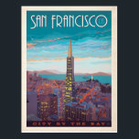 "San Francisco | City By The Bay Postcard<br><div class=""desc"">Anderson Design Group is an award-winning illustration and design firm in Nashville,  Tennessee. Founder Joel Anderson directs a team of talented artists to create original poster art that looks like classic vintage advertising prints from the 1920s to the 1960s.</div>"