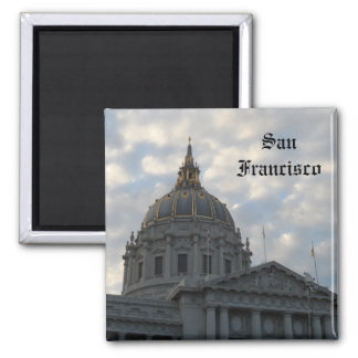 San Francisco City Hall 2 Inch Square Magnet