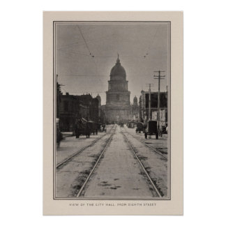 San Francisco City Hall from 8th St Poster