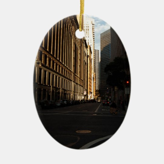 San Francisco City Intersection Ceramic Ornament