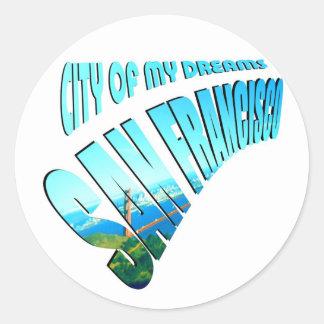 San Francisco City of Dreams Classic Round Sticker