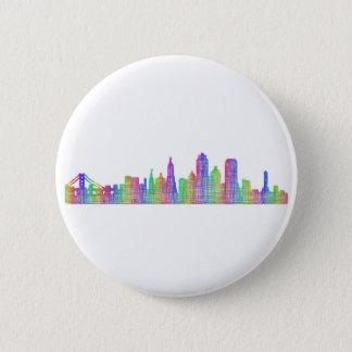 San Francisco city skyline Button