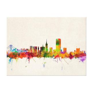 San Francisco City Skyline Stretched Canvas Prints