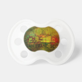 San Francisco City Skyline on Grunge Background Il Pacifier