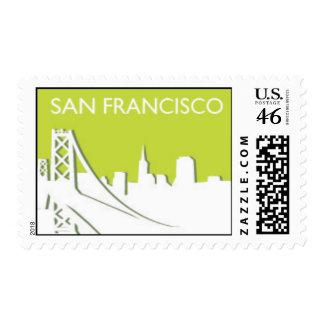 San Francisco City Skyline Postage