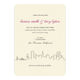 San Francisco City Skyline Wedding Invitation