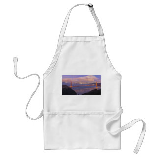 San Francisco City Skyline with Golden Gate Bridge Adult Apron
