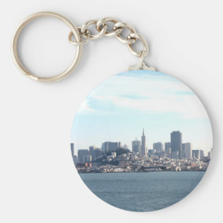 San Francisco City View from the Bay Basic Round Button Keychain