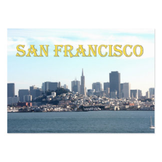 San Francisco City View from the Bay Large Business Cards (Pack Of 100)