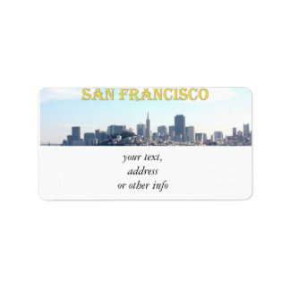 San Francisco City View from the Bay Address Label