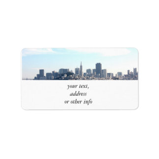 San Francisco City View from the Bay Custom Address Label