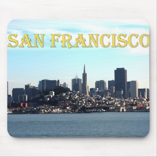 San Francisco City View from the Bay Mousepads