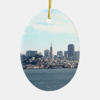 San Francisco City View from the Bay Christmas Tree Ornaments