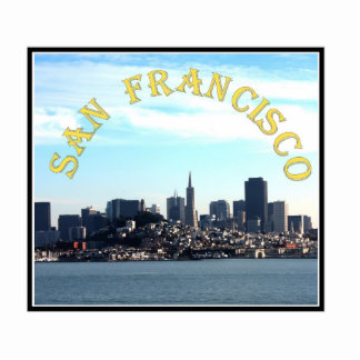 San Francisco City View from the Bay Photo Sculptures