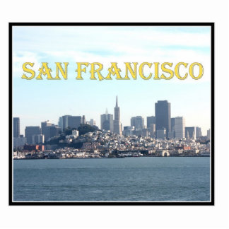 San Francisco City View from the Bay Photo Sculpture
