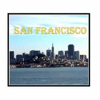San Francisco City View from the Bay Acrylic Cut Outs