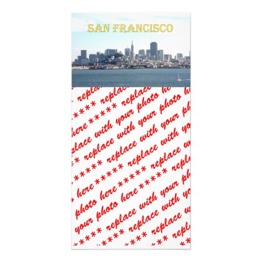 San Francisco City View from the Bay Picture Card