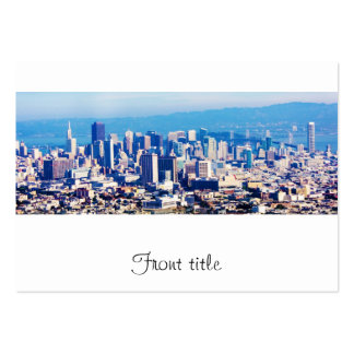 San Francisco City View Panoramic Large Business Cards (Pack Of 100)