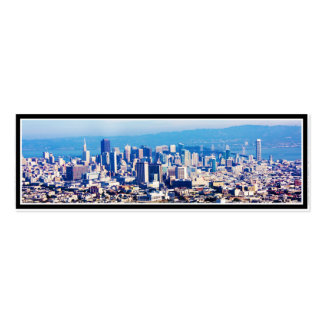 San Francisco City View Panoramic Double-Sided Mini Business Cards (Pack Of 20)