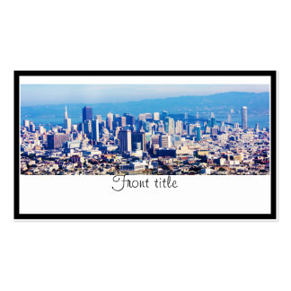 San Francisco City View Panoramic Double-Sided Standard Business Cards (Pack Of 100)