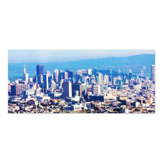 San Francisco City View Panoramic 4x9.25 Paper Invitation Card
