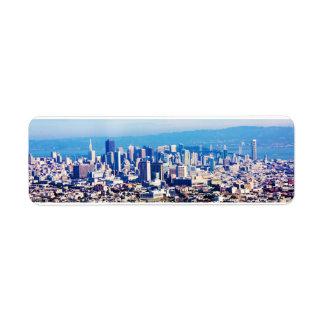San Francisco City View Panoramic Return Address Label