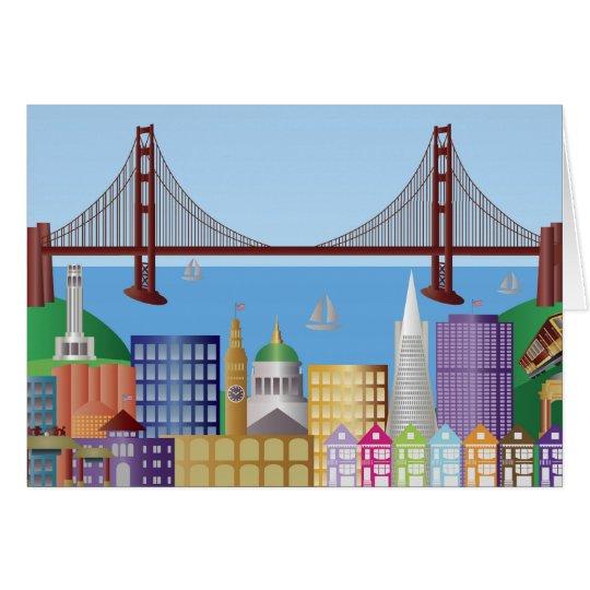San Francisco Cityscape Greeting Card