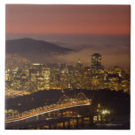 San Francisco Cityscape Large Square Tile