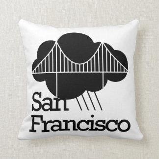 San Francisco Cloudy Bridge Pillow