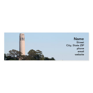 San Francisco Coit Tower Double-Sided Mini Business Cards (Pack Of 20)