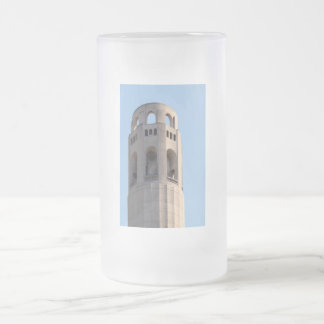 San Francisco Coit Tower Frosted Glass Beer Mug