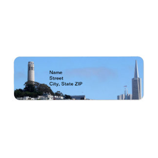 San Francisco Coit Tower Label