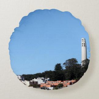 San Francisco Coit Tower Round Pillow