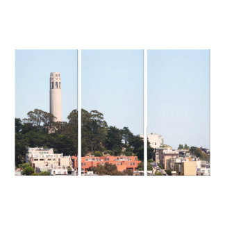 San Francisco Coit Tower Stretched Canvas Print
