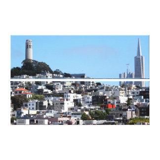 San Francisco Coit Tower Stretched Canvas Prints