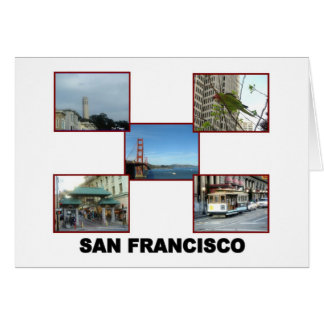 San Francisco collage #2 Greeting Card