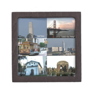 San Francisco Collage Jewelry Box