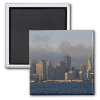 San Francisco como las elevaciones de la niebla Imanes De Nevera