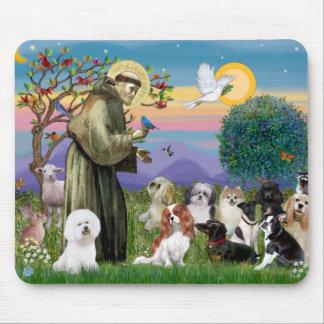 San Francisco con 10 perros Alfombrillas De Ratón