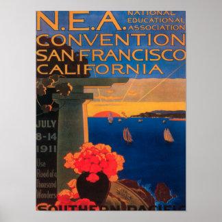 San Francisco, convenio de CaliforniaN.E.A. Poster