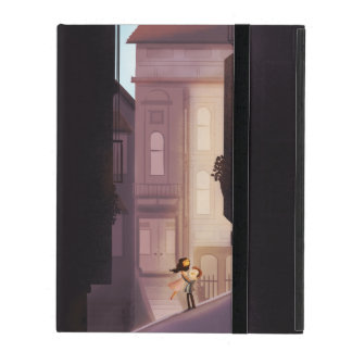 """San Francisco Couple in Love Large """"Save me SF"""" iPad Case"""