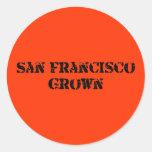 San Francisco crecido Pegatina Redonda