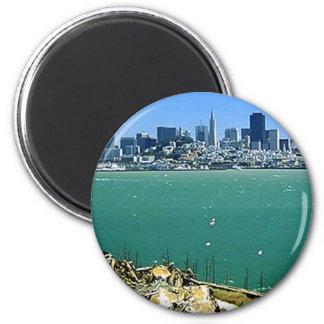 San Francisco de Alcatraz Imán Redondo 5 Cm