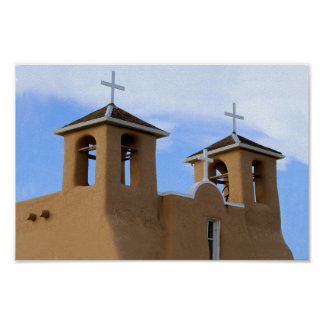 San Francisco de Asis Mission Bell Towers, Taos Poster