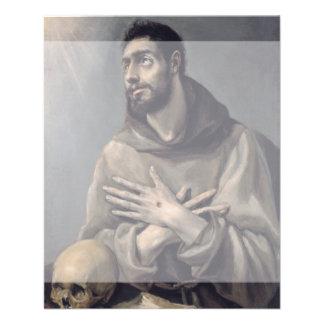 """San Francisco de El Greco Folleto 4.5"""" X 5.6"""""""