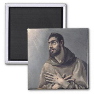San Francisco de El Greco Imán Cuadrado