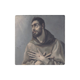 San Francisco de El Greco Imán De Piedra