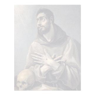San Francisco de El Greco Membrete Personalizado