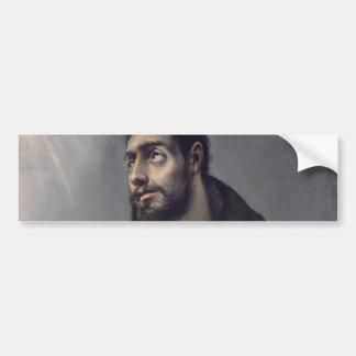 San Francisco de El Greco Pegatina Para Auto