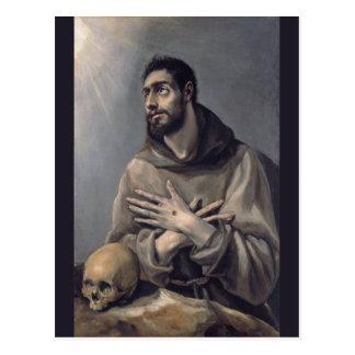 San Francisco de El Greco Tarjeta Postal